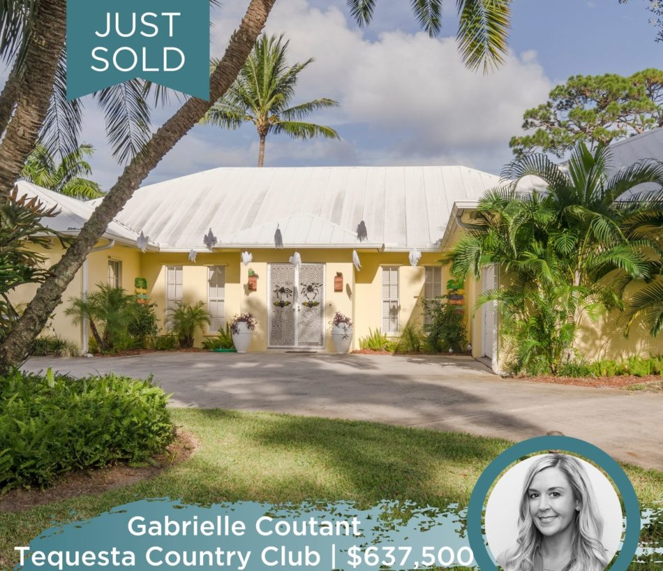JUST SOLD IN TEQUESTA!